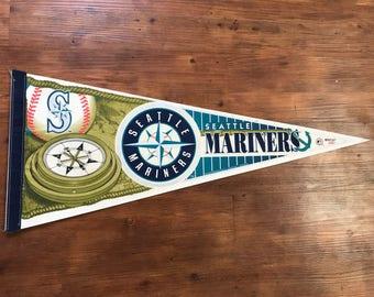 Vintage Seattle Mariners Pennant 1990's MLB Memorabilia