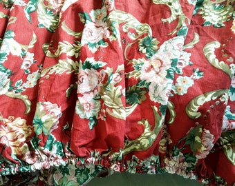 Fitted Sheet / FULL / Ralph Lauren / DANIELLE MARSEILLES / Red Floral / French Country / Ralph Lauren Bedding / Great Condition Vintage