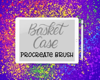 Basket Case - lettering brush for Procreate app