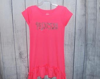 Little Girls Dress,Girls Dresses,Kids dress size, girls summer dress, M (7-8), PINK