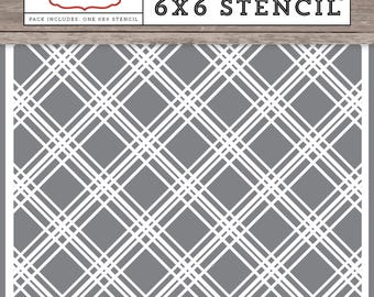 Christmas Delivery Plaid #1 Stencil - Carta Bella Paper
