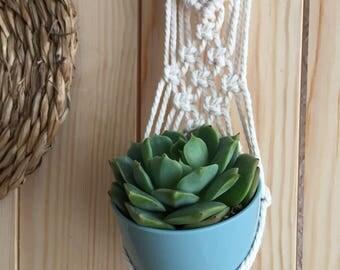 Mini Macrame pot for plants