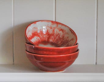 Red Bowl. Small dish. Dipping dish. Nut dish.