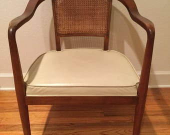 Mid Century Cane Back Chair