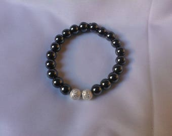 Bracelet with Hematite and sparkling stardust beads