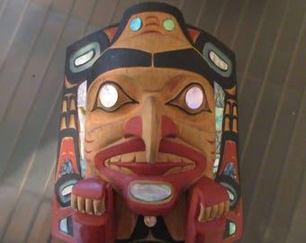 Northwest Coast Indian Frontlet/Mask by Lelooska