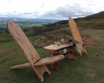 Stargazing, bog, viking chair