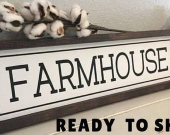 Farmhouse Sign, Farmhouse Decor, Modern Farmhouse, Hand Painted Sign, Fixer Upper Decor, Rustic Decor, Vintage Decor, Joanna Gaines Sign