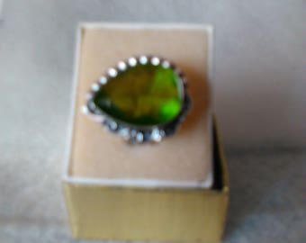 NEW Peridot Ring sterling silver August birthstone Size 8.5
