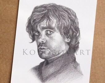 Tyrion Lannister Print, Tyrion Lannister Poster, Game of Thrones Poster,  Peter Dinklage Print, Lannister Art, House Lannister