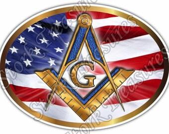 Freemasonry Masons Masonic Symbol Illuminati Car Bumper Vinyl Sticker Decal