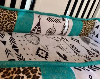 wild tribal custom baby bedding set