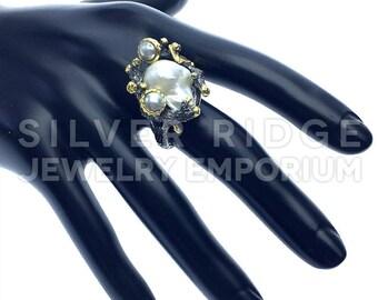 beautiful  pearl ring handmade
