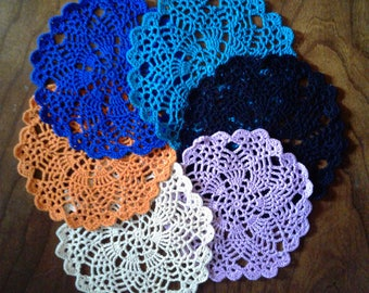 """6 1/2"""" Doily -  Assorted color options"""