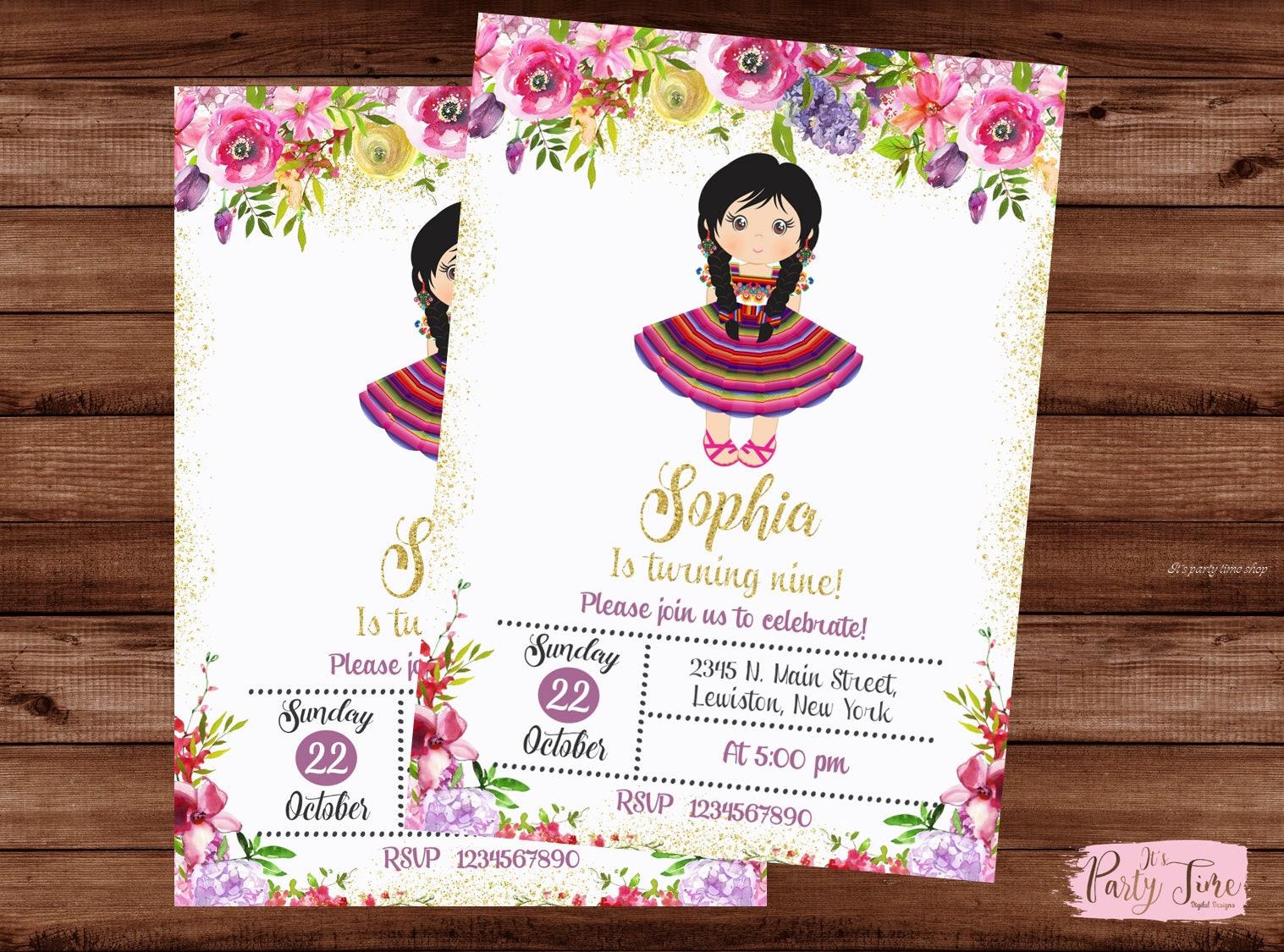 Mexican Invitation - Mexican Party Invitation - Fiesta Invitation ...