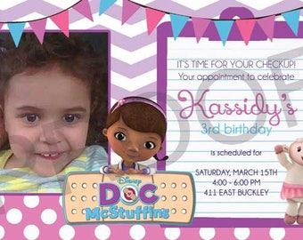 Doc McStuffins Birthday Invitation Set
