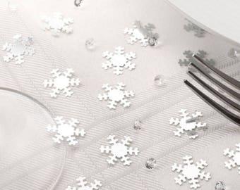 Snowflake Confetti & Diamante Table/Invite Confetti ,Christmas table decorations, tableware,favours,winter wonderland,special table wear,