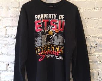 Vintage East Tennessee State University Crewneck Sweatshirt / Size XXL / NCAA Basketball / 90s / 1990