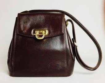 Vintage Pourchet Paris Leather Shoulder Bag