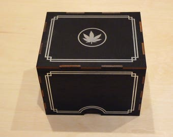Silver Leaf Incognito Stash Box
