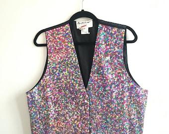 Vintage Sequin Party Vest