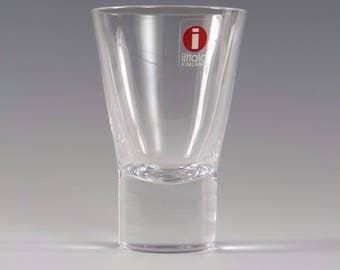 "IITTALA Crystal - AARNE Pattern - Shot or Schnapps Glass / Glasses - 3"""