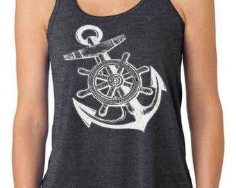Anchor's Away! Nautical Tank Top