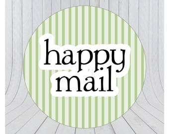 Happy mail stickers, Mail stickers, packaging stickers, delivery stickers, 103