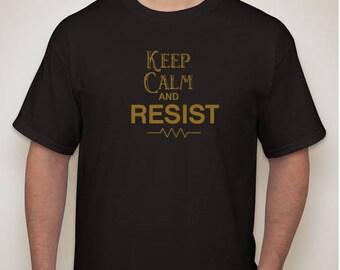 KEEP CALM, RESIST men's tee