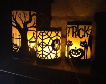 Halloween Luminary, Halloween Decorations, Halloween Lights, Halloween Luminaries, Halloween Decor, Halloween Decorations for Mantel