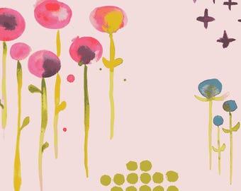 Poem Petal Poplin - Haiku 2 Collection - Monaluna Fabrics - Certified Organic Cotton - Organic Fabrics  -Kids Organic Fabrics -Floral fabric