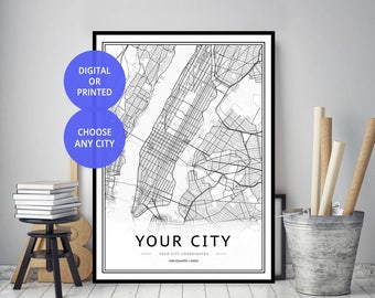 Custom Map Print, Custom Map, Custom City Map, City Map Print, Map Printable, Map, Map Print, Custom Street Map, Map Poster, City Map, Gift