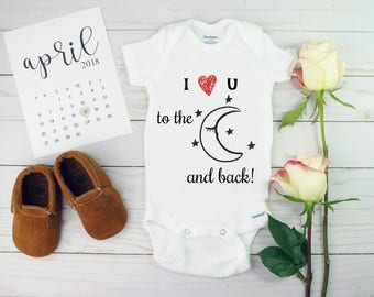 Love you the moon and back onesie