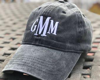 Monogrammed Baseball Hat, Monogrammed Baseball Cap, Bridesmaid gifts, Bridesmaid hats,Faded Baseball Hat, Monogrammed Faded Baseball Hat/Cap