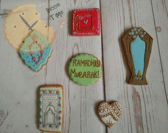 Ramadan/Eid mubarak iced biscuits