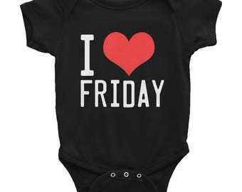 I Love Friday Infant Bodysuit
