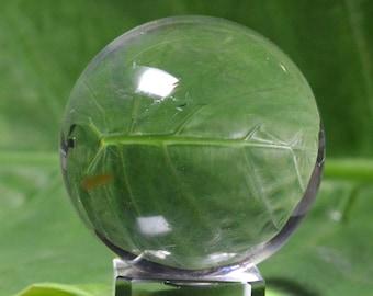 "Natural Best Clear Quartz Crystal Sphere/Crystal Ball/Quartz ball/Quartz Sphere(Size:1.72"",43mm,114g)#1046"