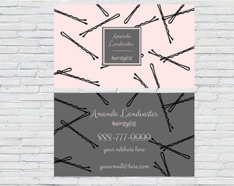 Hair Stylist/Beautician Business Card | Digital File | Beautician Card | Salon Business Card | Stylist | Printable | Download | Personalized