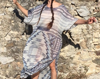 Boho Chic Cotton Kaftan,Maxi dress,Resort wear,beach coverup,Oversized Kaftan,plus size dress,Kimono,oversized cover up, beach maxi dress