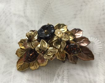 Vintage Floral Bouquet Pin Brooch