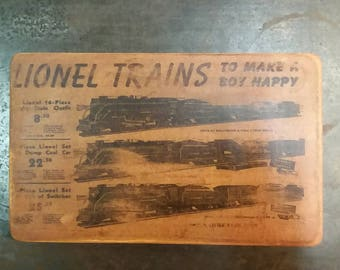 Lionel trains advertising plaque