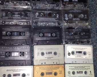 Lot of 20 audio cassette tapes without cases/No inserts: Beatles,Queen,Grateful Dead,U2,RATT,Adam Ant,Bon Jovi,Alcatrazz,Great White