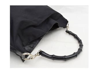 Authentic Gucci Black Bamboo Bag