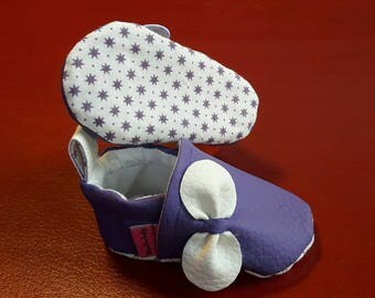 Leatherette 0-3 month baby booties