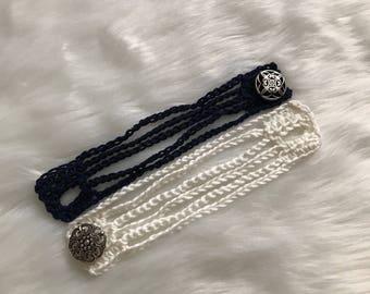 Cuff Bracelet/ Crochet Bracelet/ Wrap Bracelet/Boho Bracelet/ Women's Bracelet/Women's Jewelry/ Boho Jewelry/Handmade Bracelet