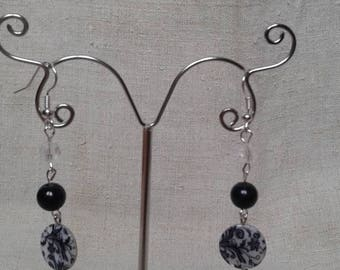stunning black and white earrings