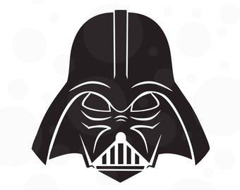 Darth Vader Svg, Starwars Svg, Darth Vader, Svg files, Silhouette Cameo, Cutting files