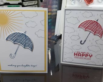 Umbrella Encouragement Greeting Card