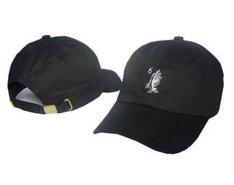 black drake 6 god ovo baseball cap