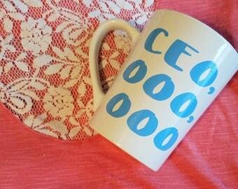 CEO mug  // girl boss cup // girl boss mug // gifts for her // coffee gifts // coffee gift // hustle mug // motivational mug